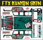 Circus Of Destruction Clown themed vinyl SKIN Kit & Stickers To Fit R/C FTX Kanyon Rock Crawler
